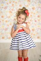 Girls Miranda Red, White and Blue Dress 259