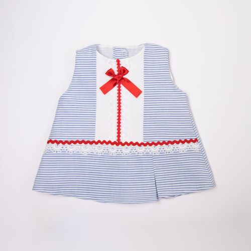 Girls Eva Red, White and Blue Dress and Pants 1021