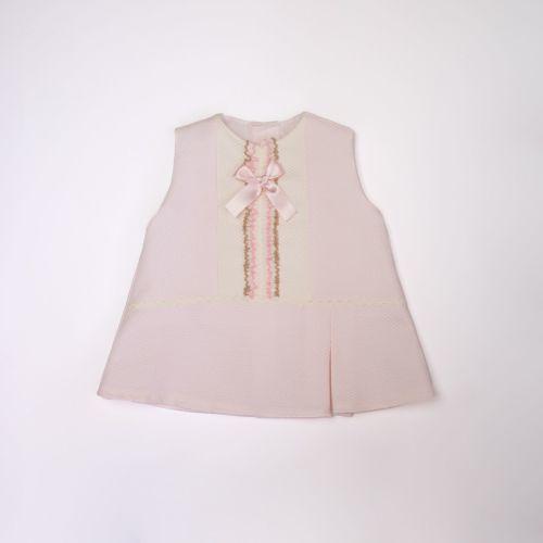 Girls Eva Pink and Cream Dress and Pants 1024