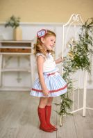 Girls Miranda Red, White and Blue Skirt Set 288