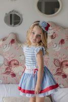Girls Miranda Red, White and Blue Dress 288