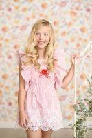Girls Miranda Red and White Dress 352 *Available upto 16 years