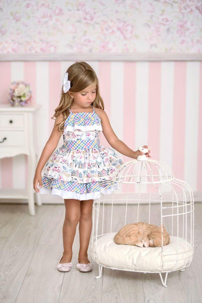 PRE ORDER SS21 Girls Miranda Multi Colour Dress 606