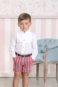 Boys Miranda Red, White and Navy Short Set 283