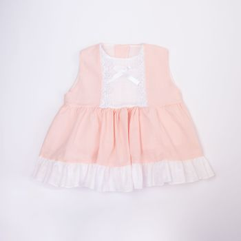 Girls Eva Pink and White Dress and Pants 1025