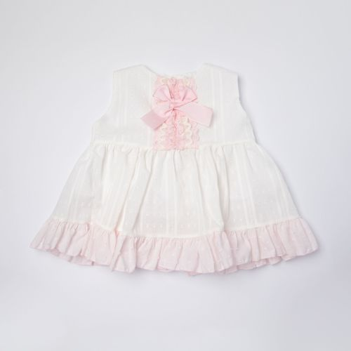 Girls Eva Pink and White Dress and Pants 1011