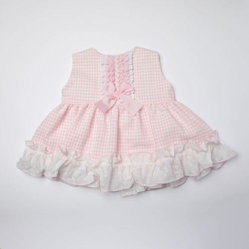 Girls Eva Pink and White Dress and Pants 1019