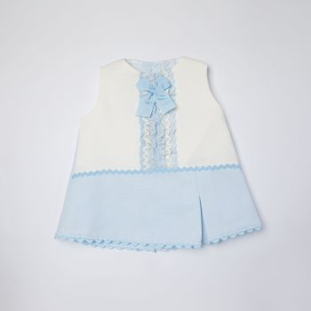 Girls Eva Blue and White Dress and Pants 1051