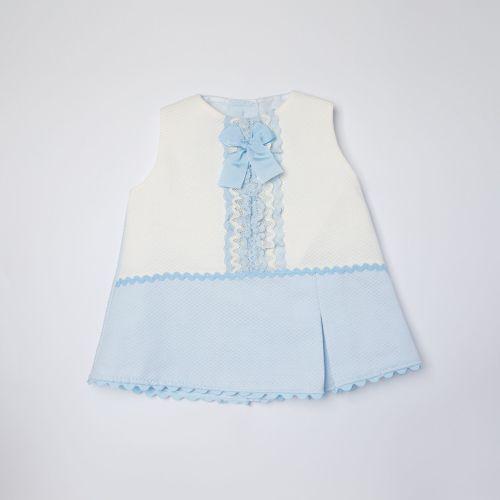Girls Eva Blue Dress and Pants 1051