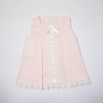Girls Eva Pink and Cream Dress and Pants 1050