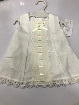 Girls Eva White and Cream Dress and Pants 1050