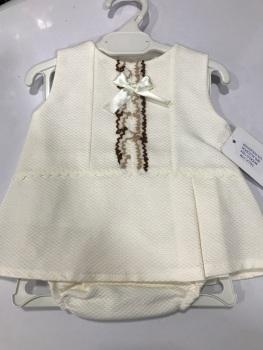 Girls Eva Cream and Camel Dress and Pants 1024