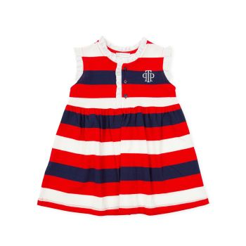 Girls Tutto Piccolo Red, White and Navy Dress 1426
