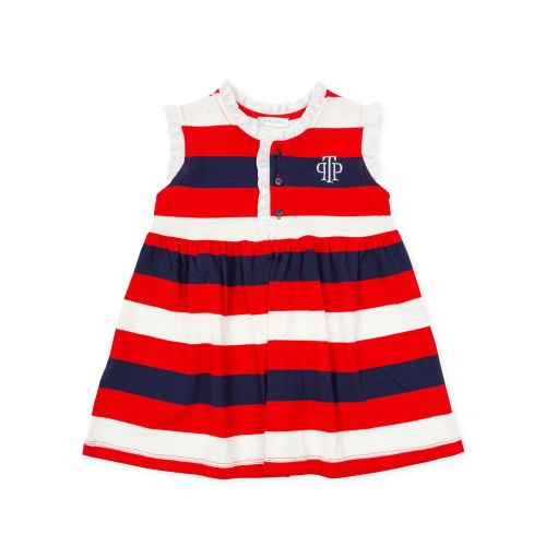 PRE ORDER SS21 Girls Tutto Piccolo Red, White and Navy Dress 1426