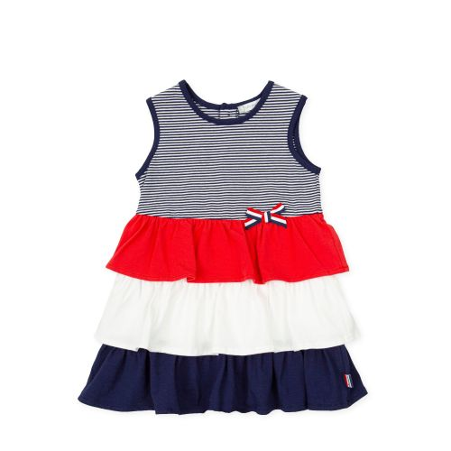 PRE ORDER SS21 Girls Tutto Piccolo Red, White and Blue Dress 1244