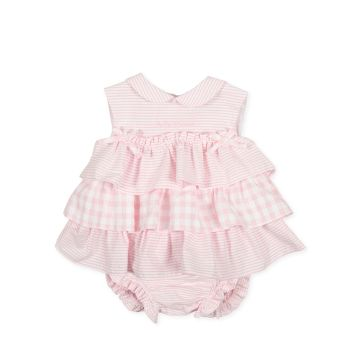 Girls Tutto Piccolo Pink and White Dress and Pants 1782