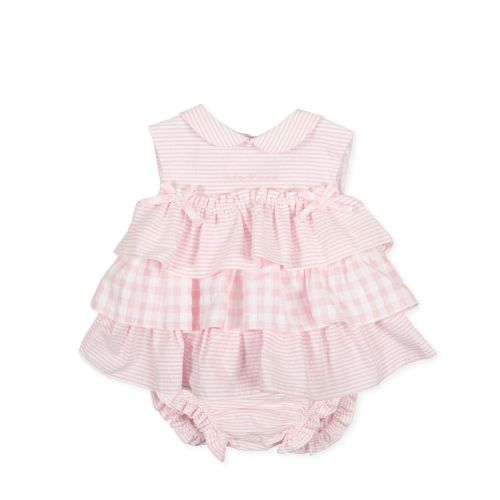 PRE ORDER SS21 Girls Tutto Piccolo Pink Dress and Pants 1782