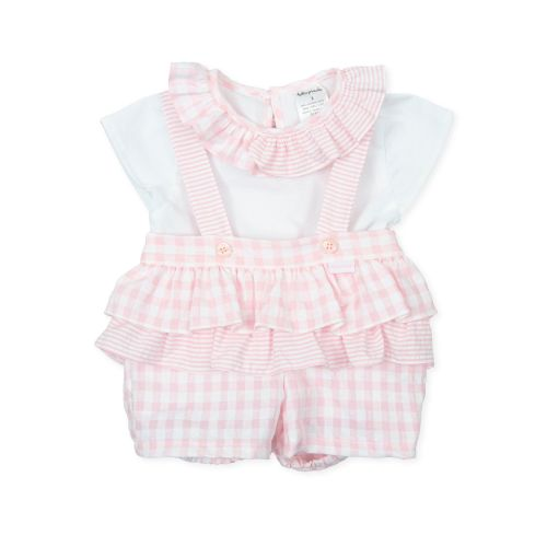 PRE ORDER SS21 Girls Tutto Piccolo Pink and White Set 1582