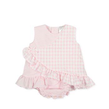Girls Tutto Piccolo Pink and White Romper 1783