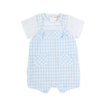 Boys Tutto Piccolo Blue and White Romper 1280