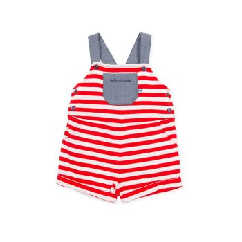 Boys Tutto Piccolo Red, White and Blue Dungarees 1290
