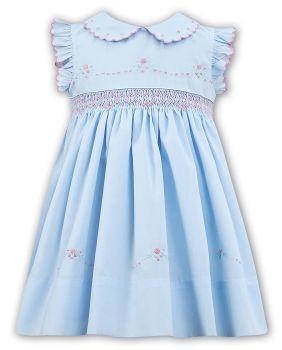 Girls Sarah Louise Heritage Collection Dress C7102N Blue