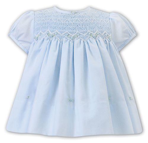 Girls Sarah Louise Dress 012220 Blue and White