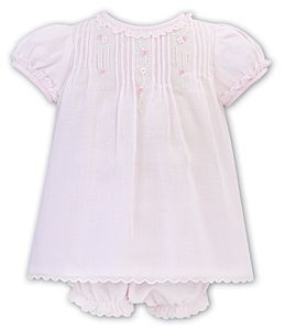 Girls Sarah Louise Dress and Pants 012215 Pink and White