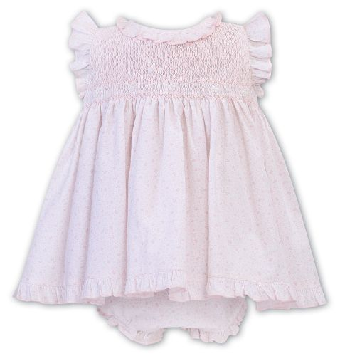 Girls Sarah Louise Dress and Pants 012300 White and Pink
