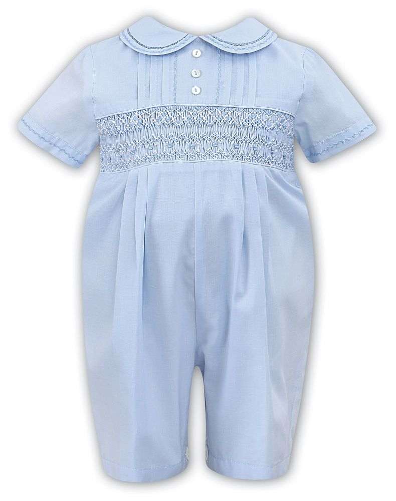 Boys Sarah Louise Heritage Collection Romper C6000N Blue