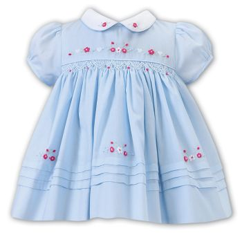 Girls Sarah Louise Dress 012240 Blue