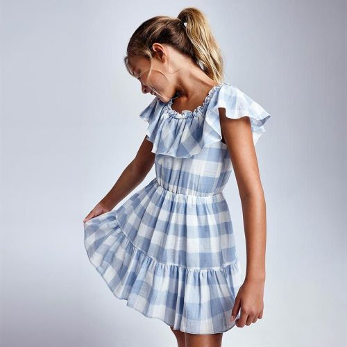 Girls Mayoral Dress 6925 Blue