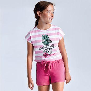 Girls Mayoral T Shirt and Shorts Set 6278