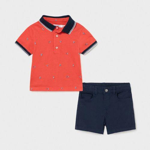 Boys Mayoral Polo Shirt and Shorts Set 1254 Navy