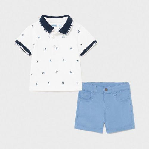 Boys Mayoral Polo Shirt and Shorts Set 1254 Blue
