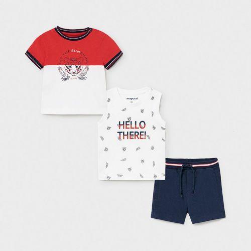 Boys Mayoral 3 Piece Shorts Set 1668 Navy