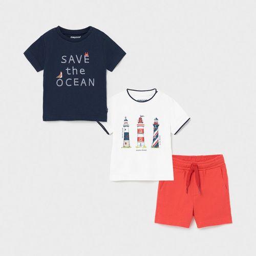 Boys Mayoral 3 Piece Shorts Set 1670 Navy