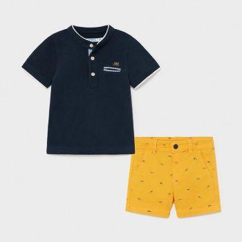 Boys Mayoral Polo Shirt and Shorts Set 1253 Mango