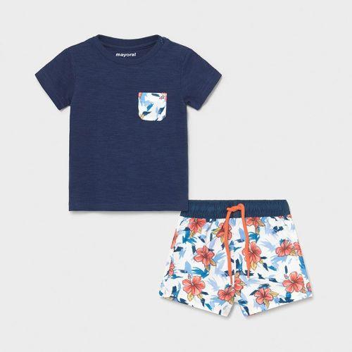 Boys Mayoral T Shirt and Shorts Set 1667 Blue