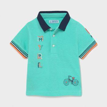 Boys Mayoral Polo Shirt 1109 Aqua