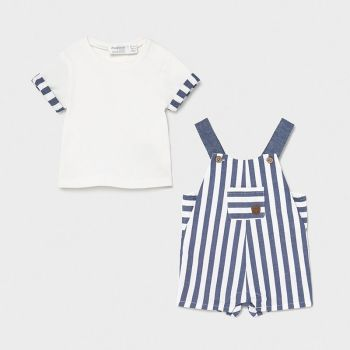 Boys Mayoral Top and Dungaree Set 1654 Blue