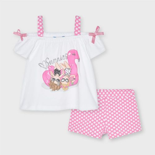 Girls Mayoral Top and Shorts Set 3213 Camellia 54