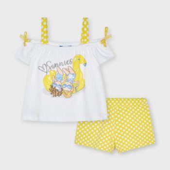 Girls Mayoral Top and Shorts Set 3213 Yellow 55