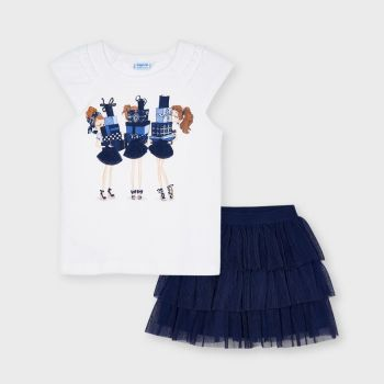 Girls Mayoral Top and Skirt Set 3961 Ink