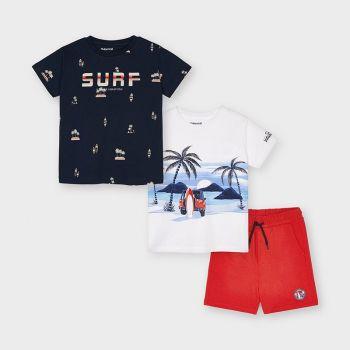 Boys Mayoral T Shirt and Shorts Set 3641 White (2 T Shirts)