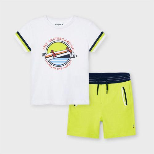 Boys Mayoral T Shirt and Shorts Set 3644