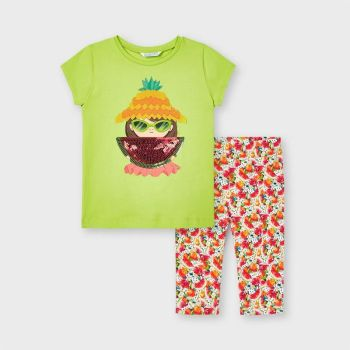 Girls Mayoral Top and Leggings Set 3741 Pistachio 47
