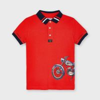 Boys Mayoral Polo Shirt 3108 Cyber Red