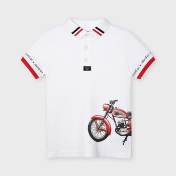 Boys Mayoral Polo Shirt 3108 White