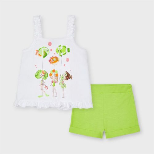 Girls Mayoral Top and Shorts Set 3219 Pistachio 53